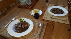 2016-02-12 18.29.20 (Damien_Toman) Tags: new wild cooking beans hare jus sauce au zealand nz seared malbec reduction