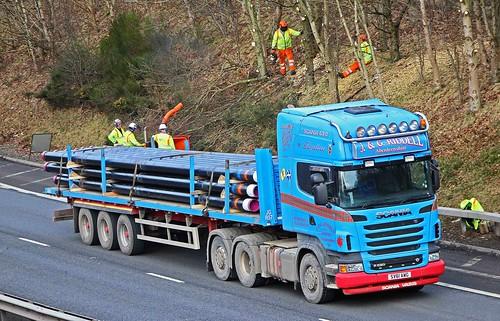 SCANIA R620 V8 - J & G.RIDDELL Glenkindie Aberdeenshire