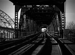 Train is Coming! (SMBAphotography) Tags: bridge blackandwhite bw train scary nocolor traincoming blackandwhitebridge trainiscoming