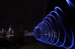 Brooklyn Bridge Park, 10.24.15 (gigi_nyc) Tags: nyc newyorkcity lightpainting brooklynbridge brooklynbridgepark steelwoolspinning