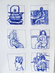 Sketches from Townshend's Teahouse (Pamela Pollock) Tags: cafe thumbnail