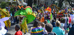 Dragons & More Dragons! (BKHagar *Kim*) Tags: street carnival people colorful day neworleans crowd parade celebration napoleon nola mardigras prytania bkhagar kreweoftucksparade