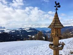 View of Alpes from the top of Saslong ski slope (My Italian Sketchbook) Tags: travel winter italy mountain snow alpes landscape italia alpi dolomites dolomiti altoadige dolomitisuperski sassolungo saslong