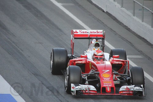Kimi Raikkonen in Formula One Winter Testing 2016