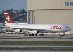 HB-JMO_A340-313_SWR_KLAX_4260 (Mike Head - Jetwashphotos) Tags: ca usa america us socal airbus lax southerncalifornia a340 lx swr jwp klax californiastate a340313 losangelesinternational swissinternational
