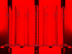 graduated cylinders (Cosimo Matteini) Tags: red london pen olympus toolsofthetrade wellcometrust m43 mft graduatedcylinders ep5 stuarthaygarth cosimomatteini mzuiko45mmf18