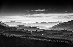 Seeking The Horizon (Christophe_A) Tags: sky blackandwhite mountain mountains landscape blackwhite haze nikon horizon peak greece handheld layers christophe d800 70300 epirus seekingthehorizon christopheanagnostopoulos tetrakomo