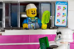 Mike the ice cream man. (KateKab) Tags: stilllife macro closeup lego icecream minifigs icecreamtruck icecreamvan minifigures toyphotography legography
