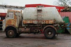 It was great to see this AEC Mercury cement tanker today, hopefully it will look great when it's restored. #aec #mercury #tanker #lorry #truck (jamesmwestabz) Tags: truck mercury lorry tanker aec