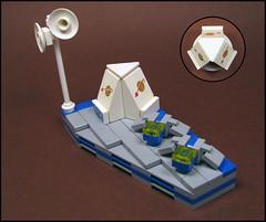 Space Base (Karf Oohlu) Tags: lego scifi spaceship vignette moc spacebase microscale classicspace microspacetopia