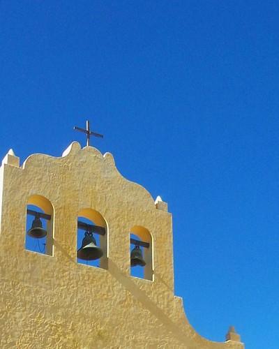 Este tipo de cielos es de la puna... limpio y con personalidad Campanario de la iglesia San Jose de Cachi q combinacion de colores!!!  Cachi - Salta - Verano 2015