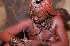 himba woman (Stan de Haas Photography) Tags: africa original portrait people woman cute nature girl beautiful face female hair nude person living necklace village married mud natural skin native outdoor head expression african south traditional young culture style tribal hut clay bracelet local tradition tribe northern ethnic namibia cultural authentic indigenous himba standehaas