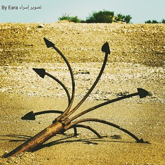 Boat's anchor. #sand #sky #tree #anchor  . # #_ # (Esra Ben Jassem) Tags: sky tree sand anchor
