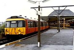 303 006 & 303x Gourock (Buzz688) Tags: from 2002 orange black weather print suburban glasgow central scottish railway running line 1984 scanned emu network 1985 gourock refurbishment withdrawn programme units inverclyde repainted terminating 303006 liveryt