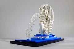 Merlion, Singapore (VisualJournalist) Tags: brick architecture singapore lego bricks winner vomit merlion moc afol singa microscale miniscale