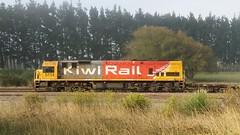 DXB5114 @ Woodville 22MAR16 (Gummy Joe) Tags: dx5114 ge u26c dxclass kiwirail nzgr woodville generalelectric nzr newzealandrailways railroad railway fog train diesel diesellocomotive locomotive