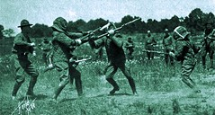 Bayonet combat by L. G. Harpel - 1918 (SSAVE w/ over 5 MILLION views THX) Tags: pennsylvania worldwari nationalguard ww1 1918 mountgretna lgharpel
