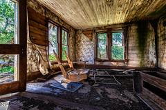 Rest Awhile (KPortin) Tags: door windows wallpaper abandoned broken decay abandonedhouse vandalism brokenwindows
