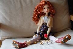 Gracie Plays Jacks (Emily1957) Tags: light toy toys nikon gracie doll dolls kitlens rollerskates naturallight bjd resin jacks nikond40 kayewiggs