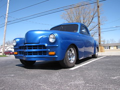 Blackjax Bar 4/10/2016 Blue Chevy Hot Rod (Speeder1) Tags: show street cruise blue two hot classic ford chevrolet car bar rat pennsylvania muscle pa lane tavern rod 55 goons aces willys gasket blacktop eights birdsboro blackjax