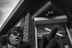 Chestnut Street, 2016 (Alan Barr) Tags: street people blackandwhite bw philadelphia monochrome point lumix mono blackwhite candid streetphotography panasonic sp streetphoto gesture pointing chestnutstreet 2016 gx8
