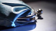 Purse (Elisafox22 On/Off at the moment!) Tags: blue light macro texture leather metal lens 50mm soft shadows turquoise sony indoors purse clasp makro hmm f28 planar carlzeiss coinpurse touit macromondays nex7 elisafox22 elisaliddell2016 beginswiththeletterp