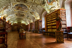 Strahov Monastery - Prague (CONTROTONO) Tags: show longexposure travel school signs building art texture beautiful stone architecture angel painting book hall construction paint gallery arch exterior view mosaic interior library room awesome perspective wideangle books palace location tourist ceiling stained bubble librarian conference column librarians programs marble drama exploration brass fresco wallpainting stucco stacks bulge oldbook readers serials supershot antiquedoor controtono