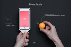 'Phone Paddle' (Skrekkgle) Tags: ball design phone may paddle tennis concept bluetooth monthly app conductive brainchild skrekkogle skrekkgle skrekkoglecom accelorometer
