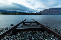 End of the line ..... Queenstown (Lisa Hawkins Photography) Tags: newzealand lake holiday mountains water clouds train sunrise canon landscape photography lisa rail line lee queenstown filters wakatipu hawkins 6d 16mm35mm