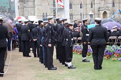 RCSCC Falkland cadets helping with wreaths (Mark Blevis) Tags: ottawa wwii ceremony parade atlantic parliamenthill battleoftheatlantic