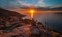 plnitude (corsicagwen) Tags: sea mer sunrise de landscape soleil corse coucher piana calanches