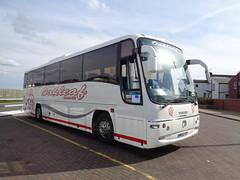 MK52YCP Oakleaf Coaches in Blackpool (j.a.sanderson) Tags: volvo coach oakleaf blackpool coaches barnsley paragon plaxton b10m mk52ycp