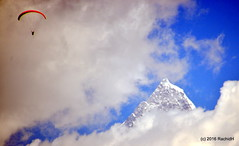 DSC_0455 (rachidH) Tags: nepal sky mountain snow nature clouds peak paragliding everest pokhara annapurna himalayas himal machapuchare rachidh