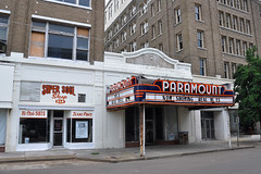 Clarksdale - Paramount Glamour (Drriss & Marrionn) Tags: street usa cinema building architecture buildings mississippi outdoor streetlife streetscene movietheatre venue paramount streetviews paramounttheatre clarksdale vintagemovietheatre mariontheatre oldvenues