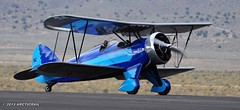 WACo in Blue (arcticrail) Tags: field airplane nikon waco action aircraft aviation air nevada airplanes engine racing september airshow reno races rara radial airraces stead