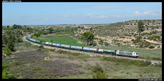 TECO en La Floresta (javier-lopez) Tags: train tren trenes railway mmc tcs contenedor contenedores teco 253 renfe traxx torrelavega lafloresta sgss adif ffcc sgs mercancas constant tramesa teqsa 23042016