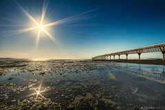 reflejos (Mauro Esains) Tags: patagonia costa sol argentina muelle agua nikon sigma paisaje cielo reflejo gran comodoro angular chubut restinga rivadavia km3 nikonsigma