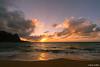Tunnels Sunset (Mark Griffith) Tags: ocean sunset beach hawaii springbreak kauai tunnels haena tunnelsbeach sonya7rii voigtlanderf4515mmiii bestof2016 bestofapril2016 20160412dsc04140