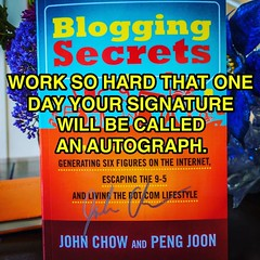 Get your copy at http://www.johnchow.com/bloggingsecrets #bloggingsecrets #book #blog #howtoblog #blogger #makemoneyonline #blogging