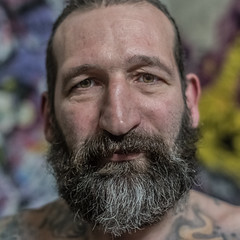 RODOLPHE (jean-fabien) Tags: portrait man male 6x6 face 35mm square body style barber tatoos fujinon dandy authentic barbe visage carré fx35 500x500 rockstyle menstyle xpro2 tatoued taouages taooed menfasion