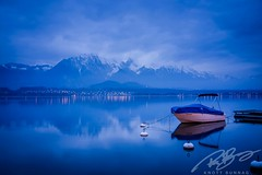 (Siam_K) Tags: vacation mountain lake snow water switzerland evening boat sony thun bluehour fullframe stillness rx1 mirrorless