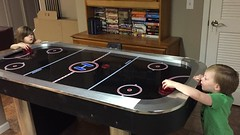 "Paul and Inde Play Air Hockey at Easter • <a style=""font-size:0.8em;"" href=""http://www.flickr.com/photos/109120354@N07/26532018032/"" target=""_blank"">View on Flickr</a>"