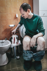 Monstruacin (Juan Carlos Pascual) Tags: selfportrait weird autorretrato raro menstruation menstruacin