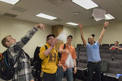 Final Exams Are Over (aaronrhawkins) Tags: summer vacation test college students happy university joy class celebration final papers laugh cheer professor excitement exam rejoice seniors byu brighamyounguniversity undergraduates aaronhawkins semiconductordevices