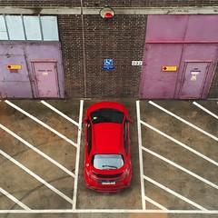 No Parking Zones (David Abresparr) Tags: street lines honda mirror stockholm pavement noparking parking disabled 092 parkering spegel linjer garageport parkeringfrbjuden handikapparkering