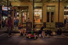 The singer (karinavera) Tags: street travel music night artist neworleans nola nikond5300