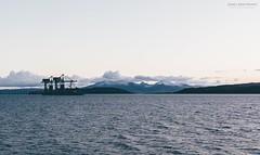 Views of Arran, through Hunterston (itsjamesy) Tags: sunset mountain seascape landscape gold scotland nikon kodak north scottish isle arran millport ayrshire largs jamesy fairlie cumbrae hunterston nikon1224mm d7100 vsco