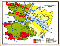 carte geologie (tartarsky) Tags: maine et loire 1965 cartes