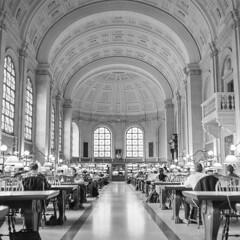 Copley Library_20150810_003 (falconn67) Tags: old bw history mamiya film boston blackwhite library historic 120film bostonpubliclibrary copley publiclibrary copleysq c330