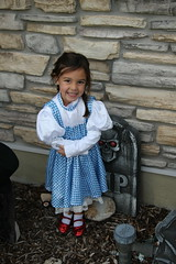 Jovie ready to trick or treat (Aggiewelshes) Tags: halloween dorothy october halloweencostume jovie 2015